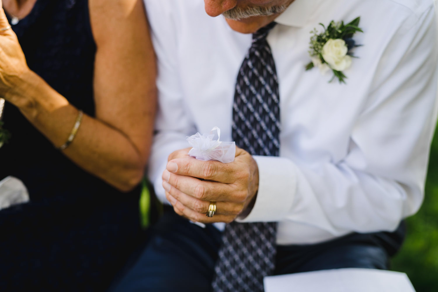 Spring Farm wedding guest at ceremony photo