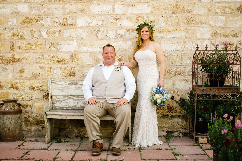Spring Farm wedding bride and groom portrait photo
