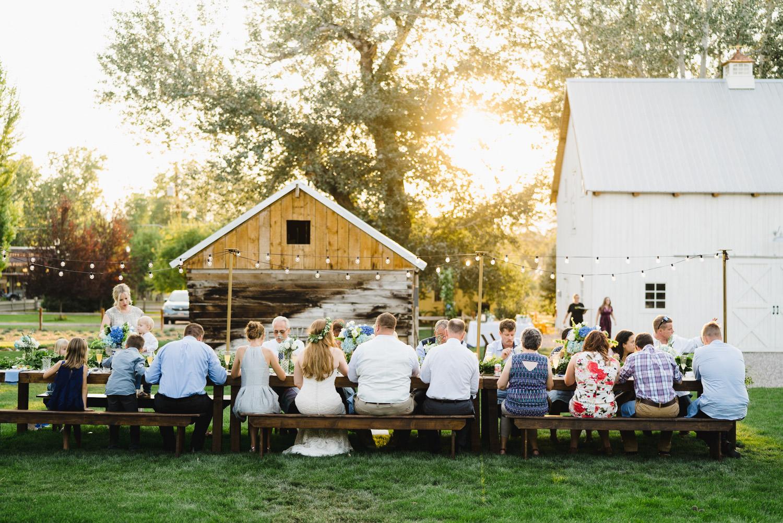 Spring Farm wedding rustic outdoor reception photo