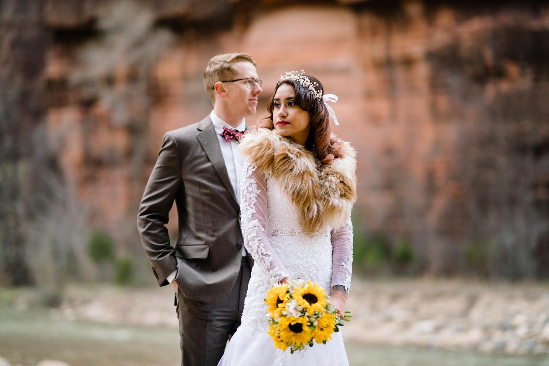 Temple of Sinawava wedding photo