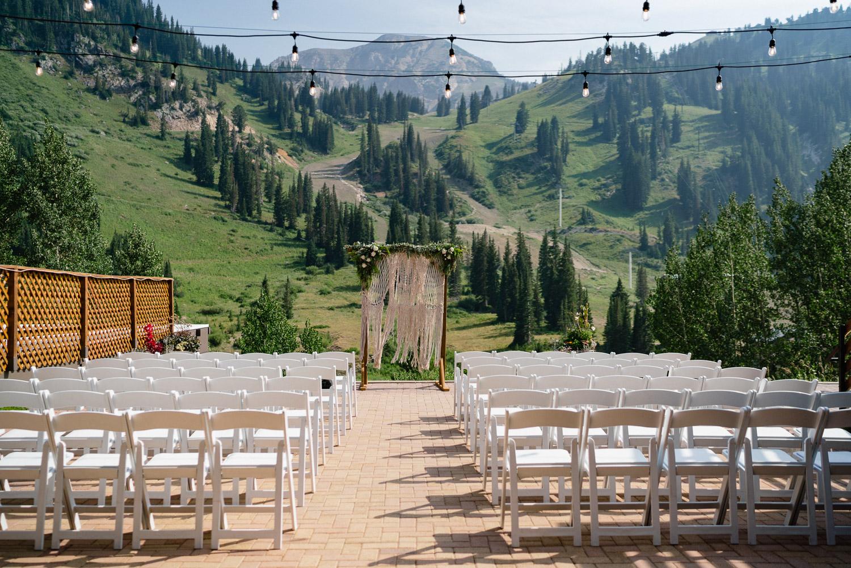 outdoor wedding set up alta resort