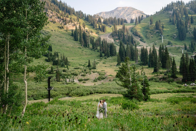 Wedding at Alta Lodge mountain scene