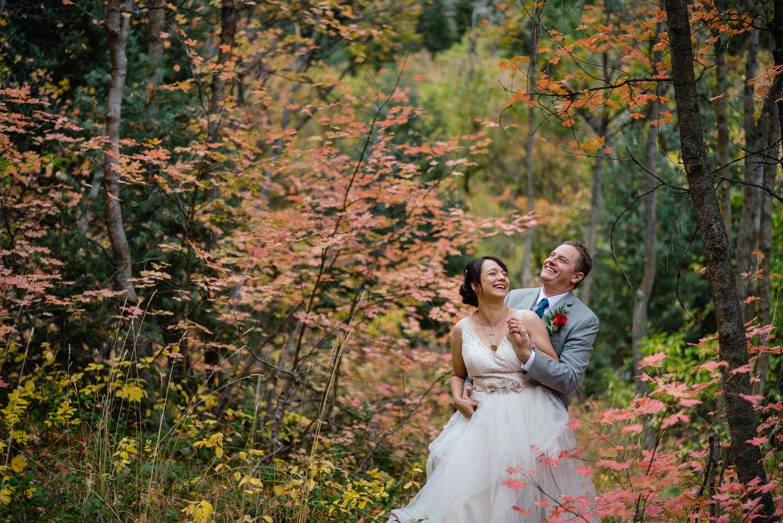 Fall wedding in Millcreek canyon