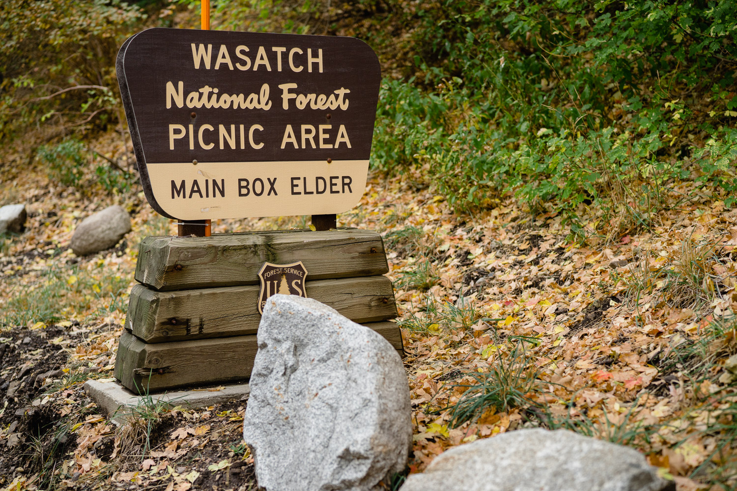 wasatch national forest picnic area sign