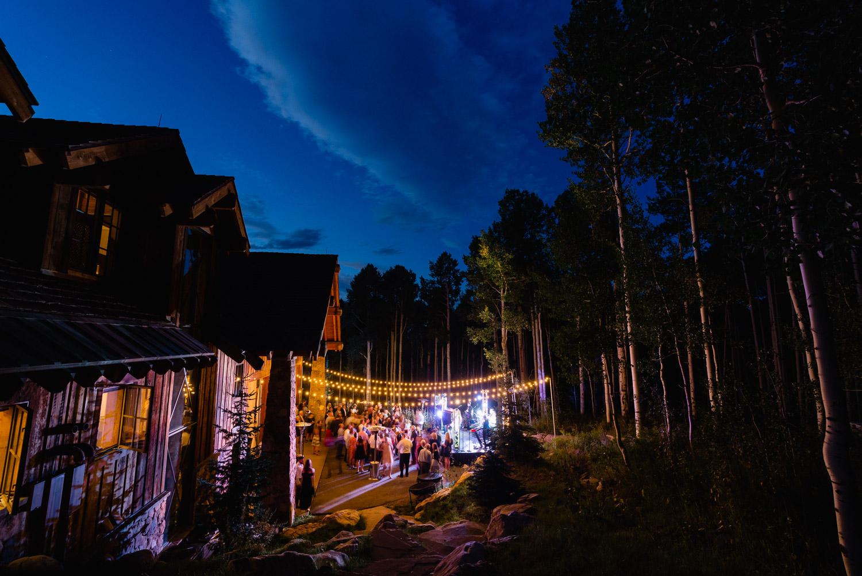 Outdoor Park City Wedding night sky