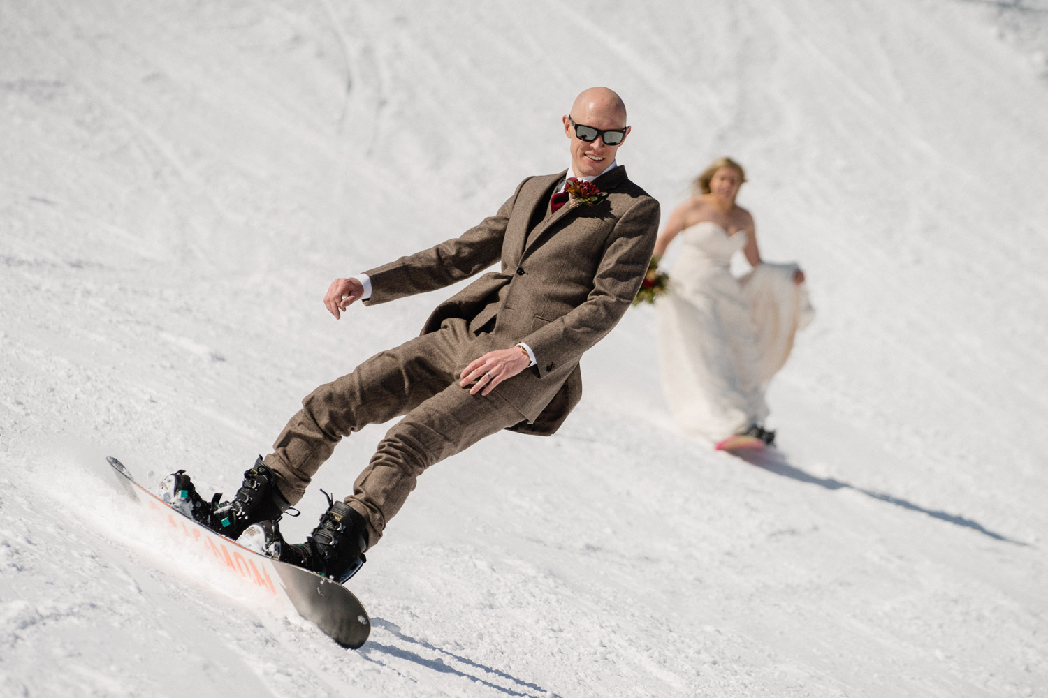 Brighton Resort Skiing Wedding