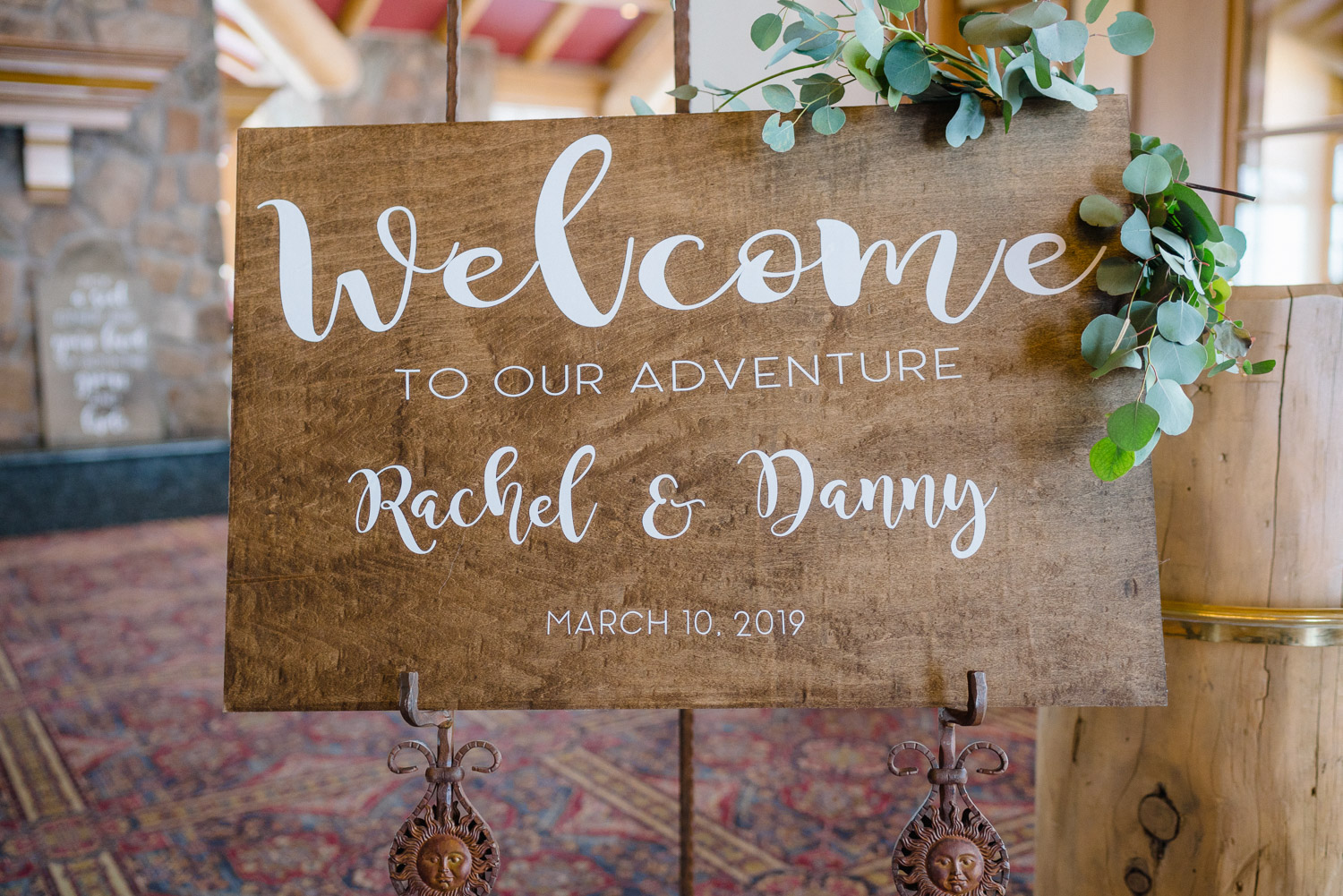 welcome to our adventure wedding sign snowbasin resort