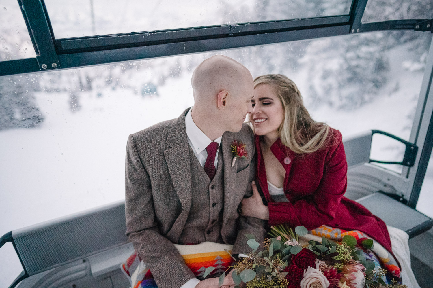 Snowbasin Resort Wedding tram ride