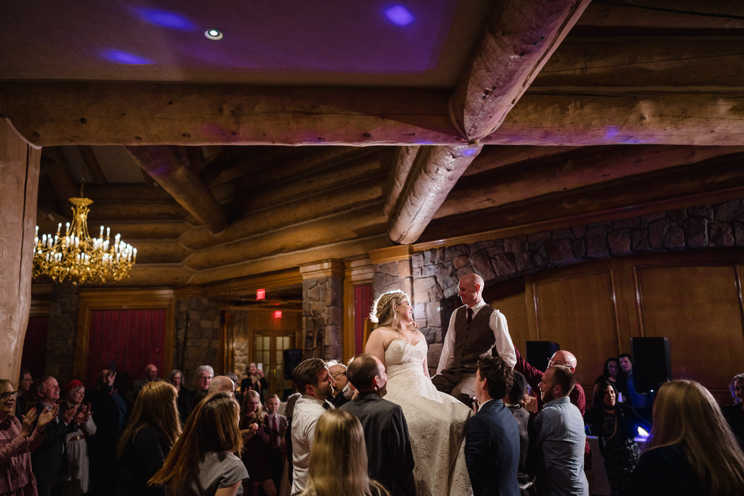 snowbasin resort wedding reception celebration