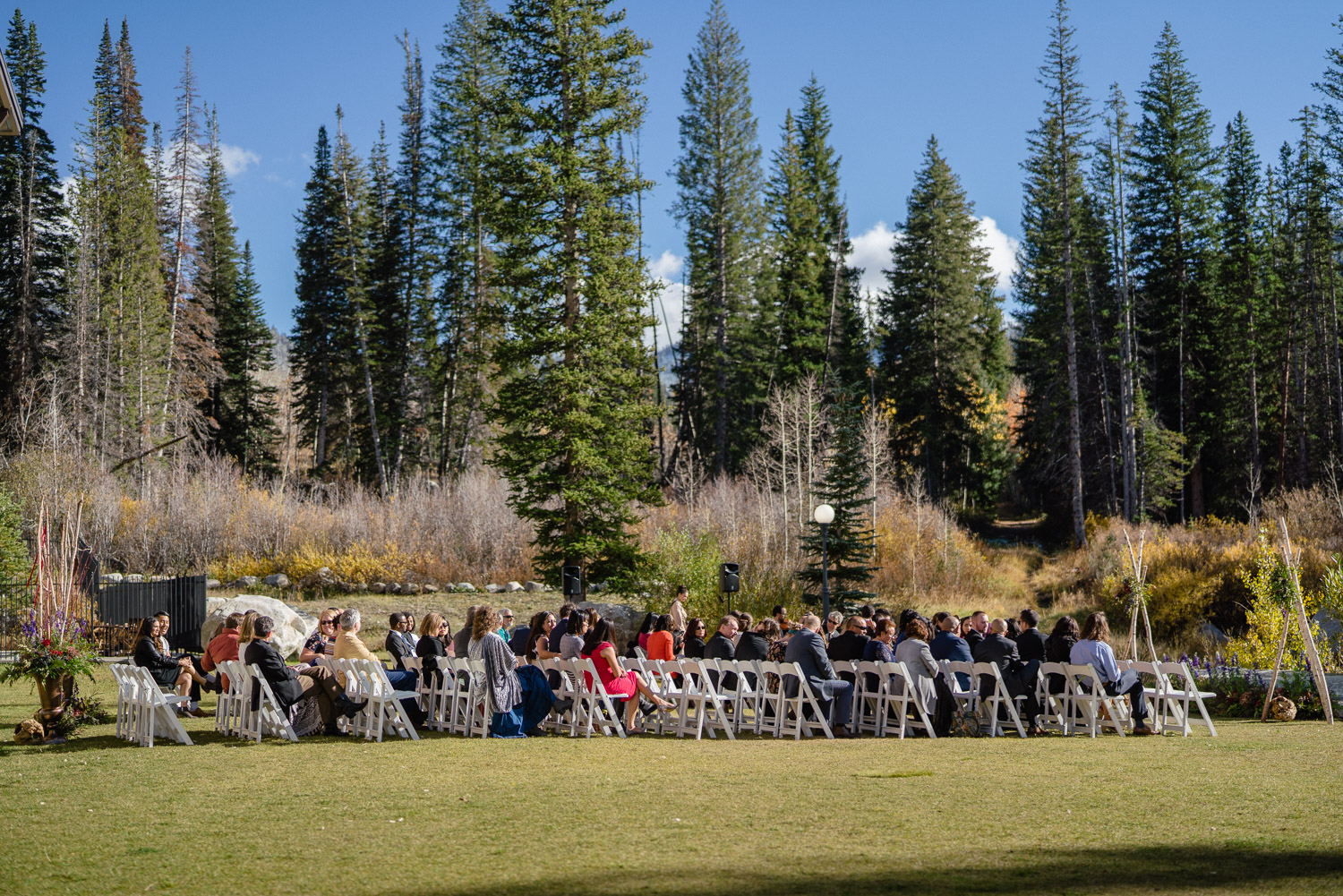outdoor wedding ceremony fall solitude resort