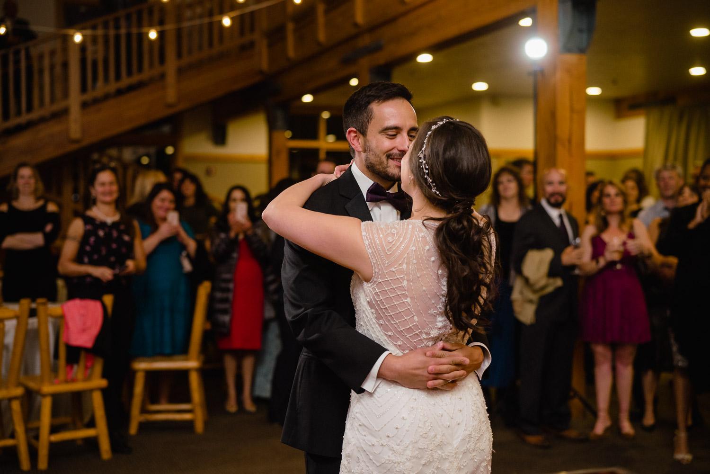 bride and groom first dance solitude mountain resort wedding