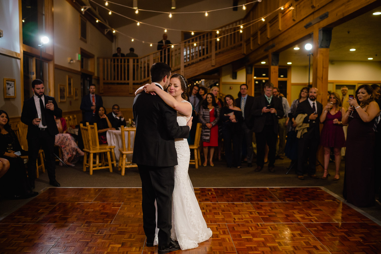 bride and groom dancing reception solitude resort wedding