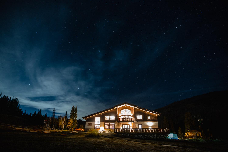 solitude lodge at night fall wedding