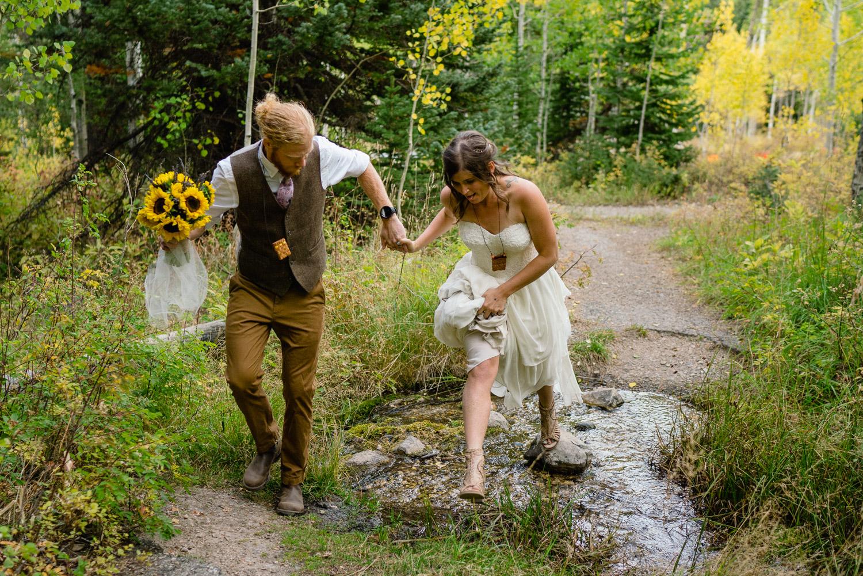 Spruces Campground Wedding stream