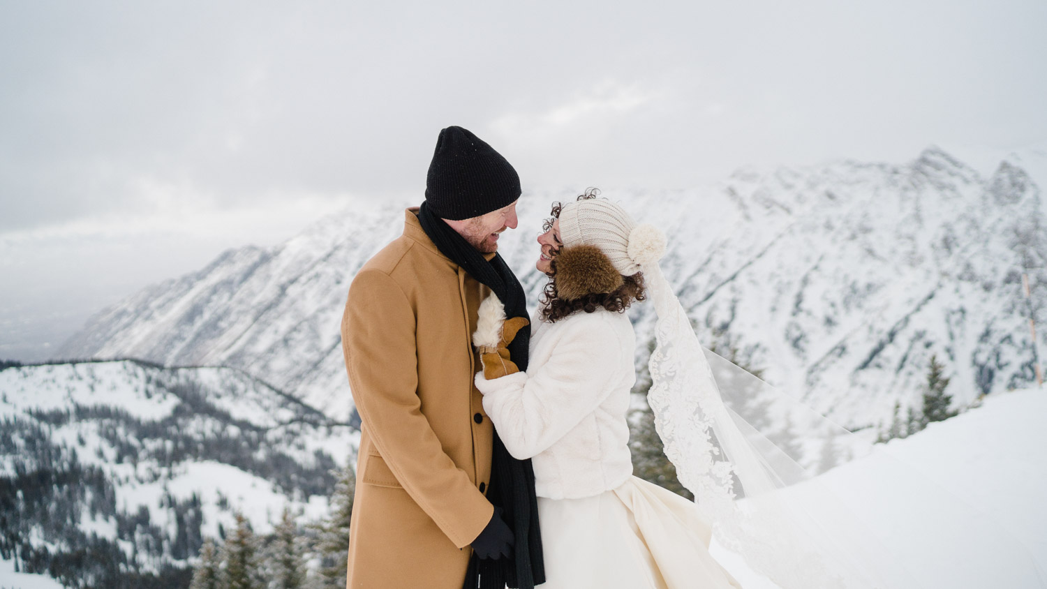 Snowbird Resort Winter Wedding snowy mountain
